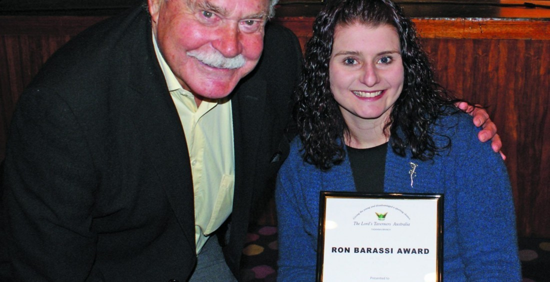 Katherine Reed 2010 Ron Barassi Award Winner
